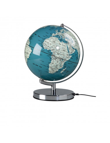 Globe lumineux couleur Bleu 26 cm