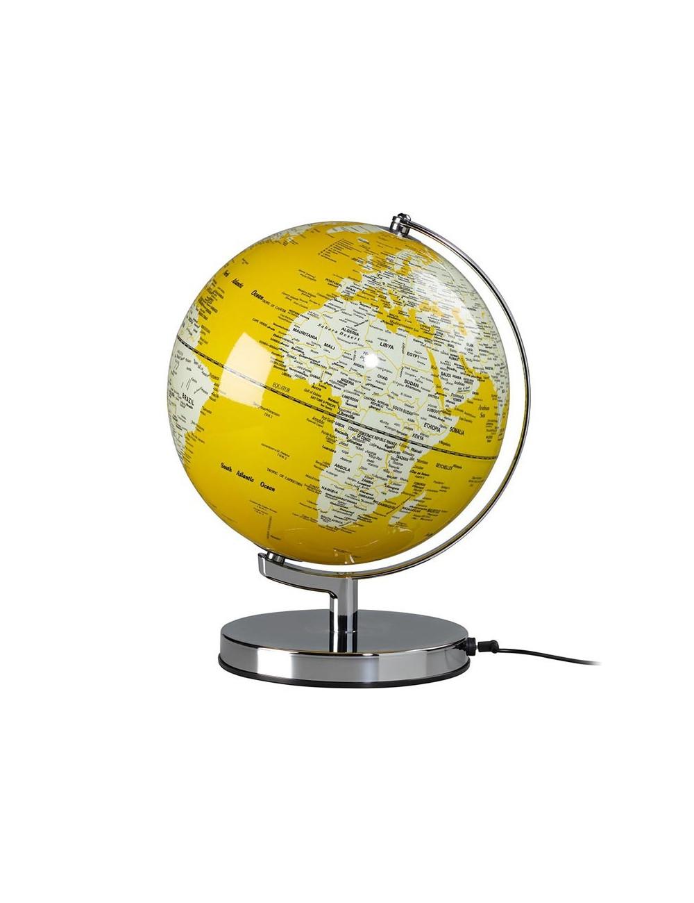 Globe lumineux couleur Jaune 26 cm