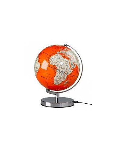 Globe lumineux couleur Orange 26 cm