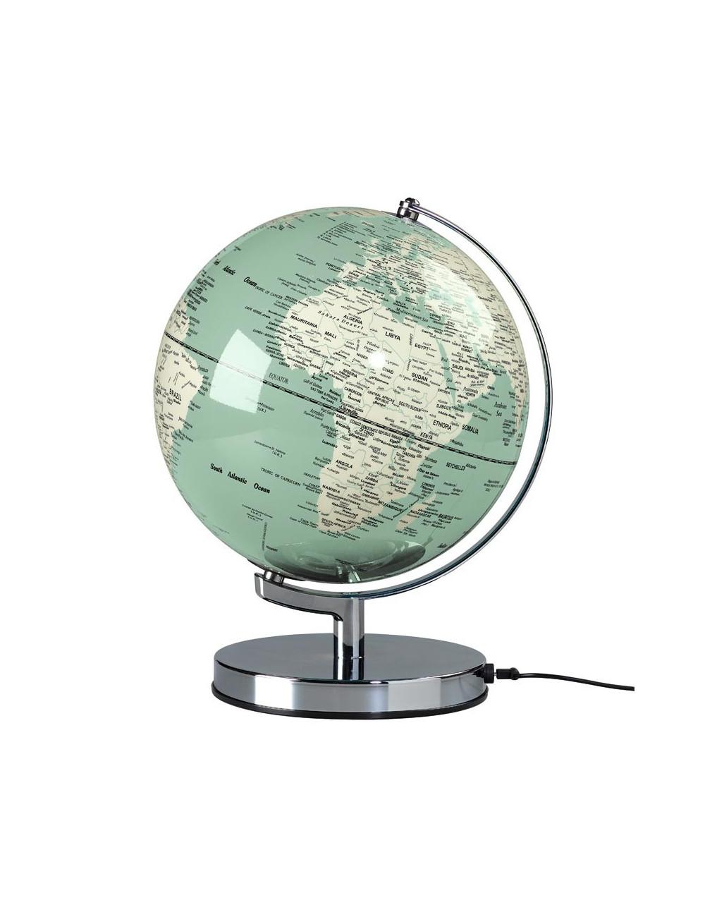 Globe lumineux couleur vert 26 cm