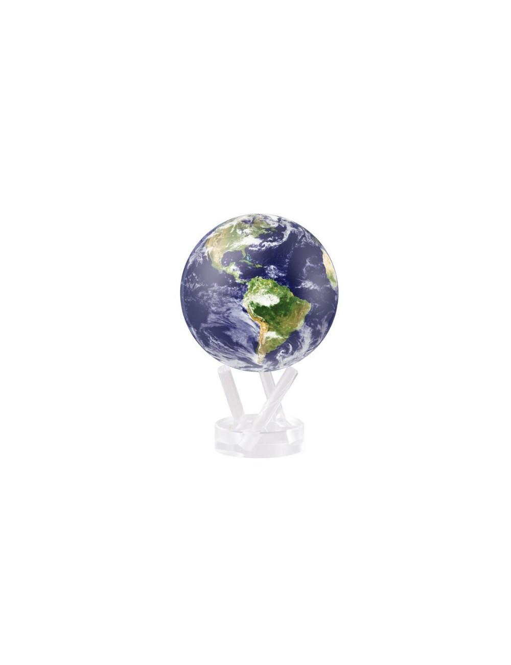 Globe MOVA autorotatif Bleu avec nuages/vue satellite 216 mm (8,5')