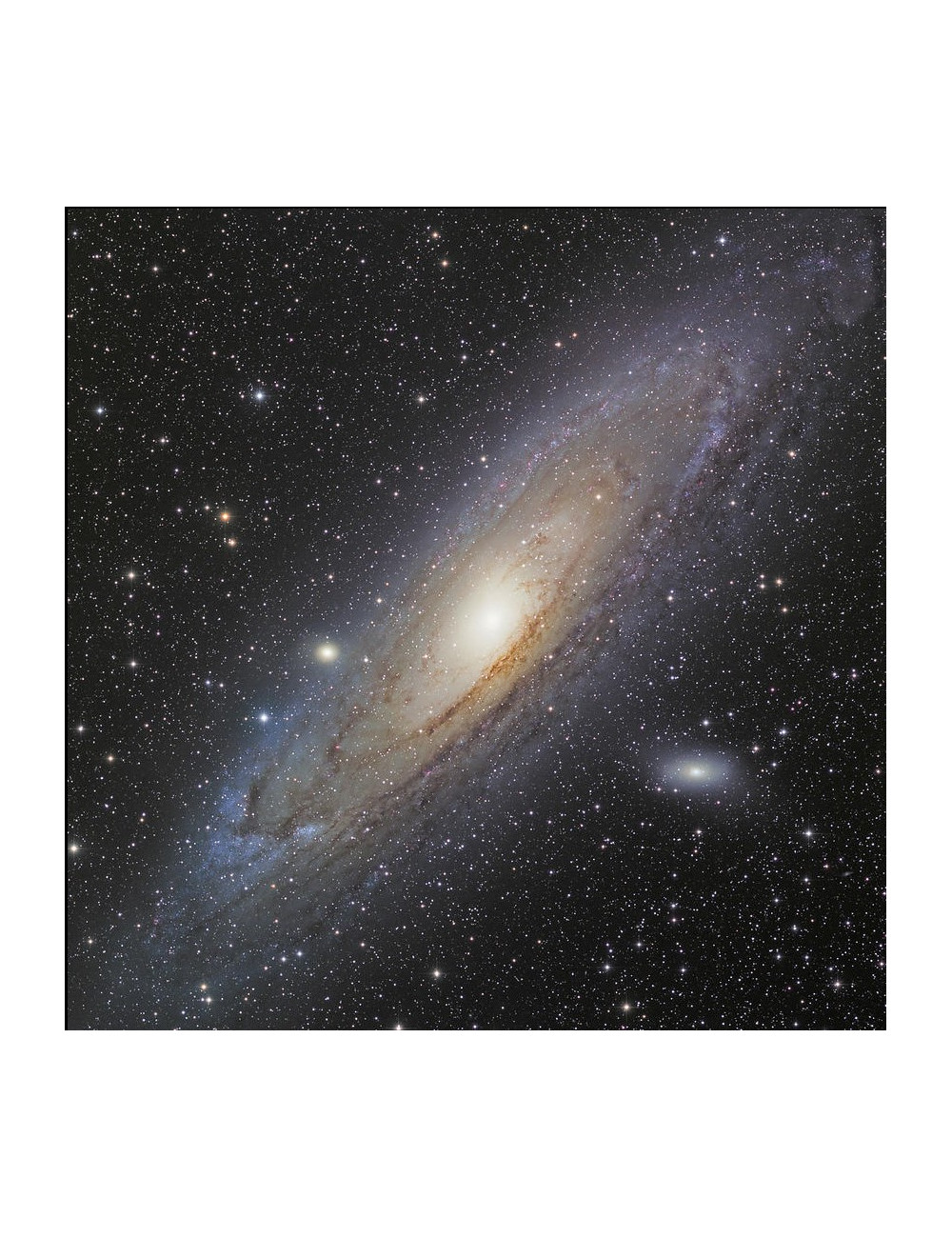 POSTER GALAXIE D'ANDROMEDE 50X50