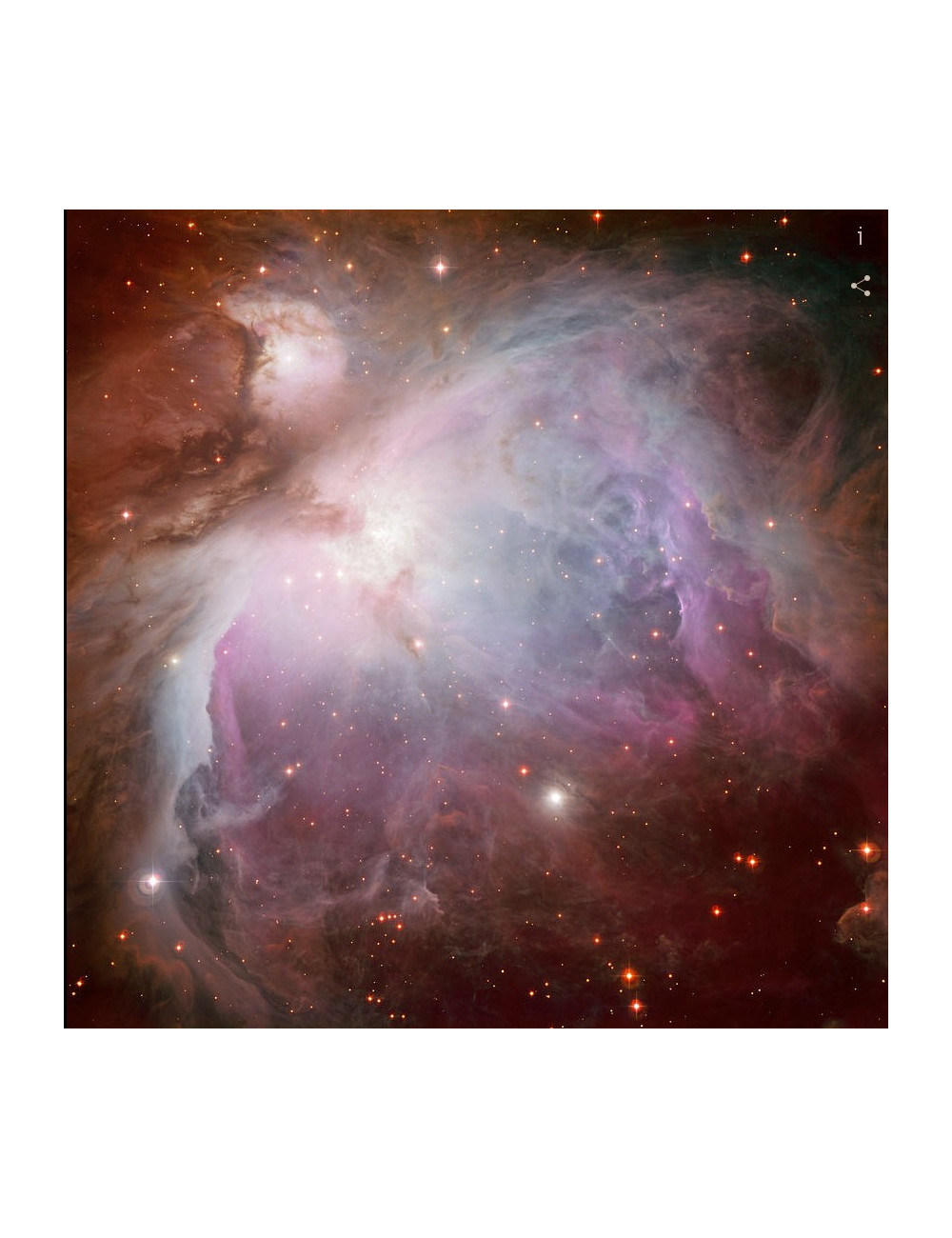 POSTER NEBULEUSE D'ORION 50X50