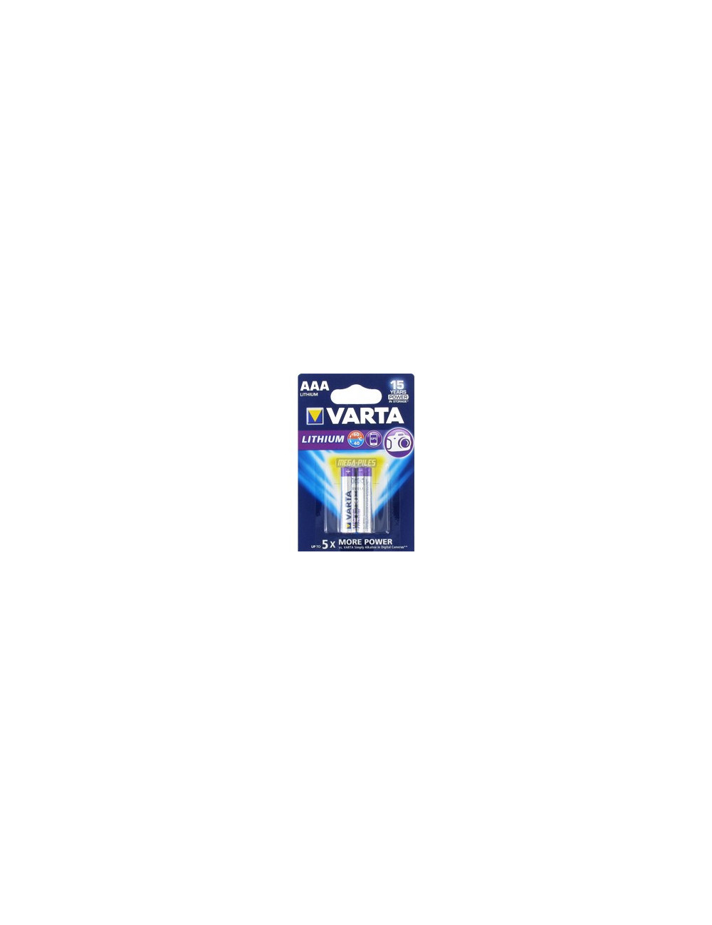 Piles Varta Lithium LR03 AA (lot de 2)