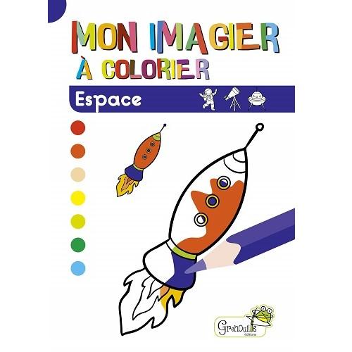 Mon imagier à colorier Espace