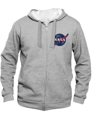Sweat zippé capuche - NASA - GRIS - LOGO - S