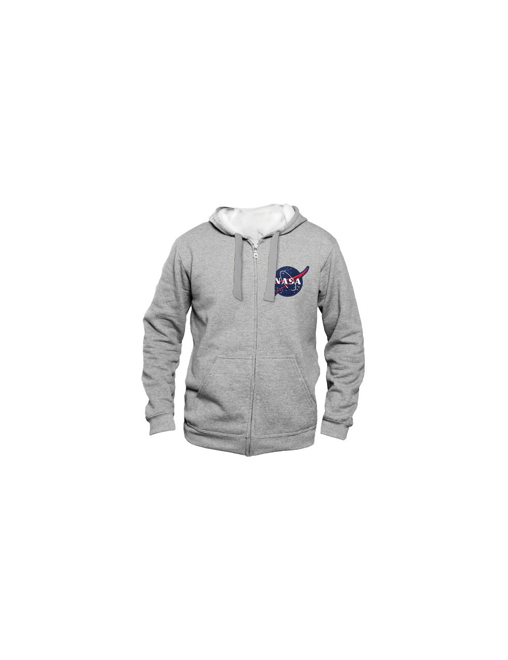 Sweat zippé capuche - NASA - GRIS - LOGO - XL